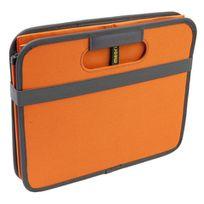 Meori - Boîte De Rangement Pliable 30 Litres 2 Compartiments - Orange Mandarine