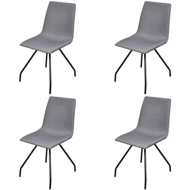Vidaxl Chaise de salle à manger 4 pcs Pieds en fer Tissu