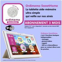 """Ordimemo - Tablette Acer 2 Go / 32 Go, écran Ips 10,1"""" 1280x800 WiFi, mise à disposition incluant SweetHome avec 3 mois d'abonnement de service hors connexion internet"""