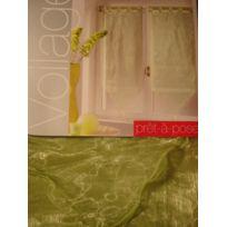 Sans Marque - Paire De Voilage - 60 X 120 Cm - Organza - Vert