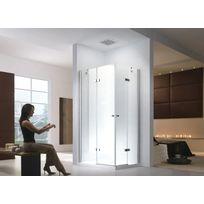 Lifestyle Proaktiv - 100x80x195cm Cabine de douche Demeter - sans bac de douche - transparent - Esg Verre