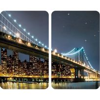 Wenko - Set de 2 Protège-Plaques Universelles Brooklyn Bridge