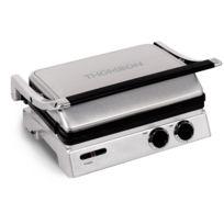 Thomson - Thgr06306 - Grille à viande multifonctions Panini/Gril/Gaufre - Plaques interchangeables de 23,5 x 29,5cm - Puissance 1800 watts