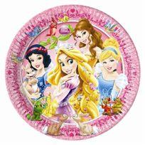 Unique Party - Unique Lot De 20 Assiettes En Carton Motif Princesse Et Animaux LOT De 8