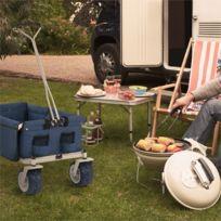 The Blue Chariot Remorque pliable 70kg 90l roues larges 10cm - bleu