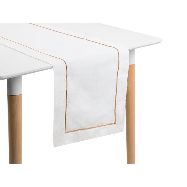 BELIANI Chemin de table crème 35 x 180 cm CEMEL