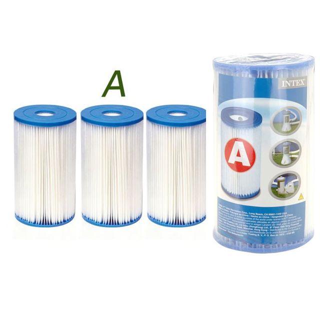 intex 3 cartouches de filtration pour filtre piscine. Black Bedroom Furniture Sets. Home Design Ideas