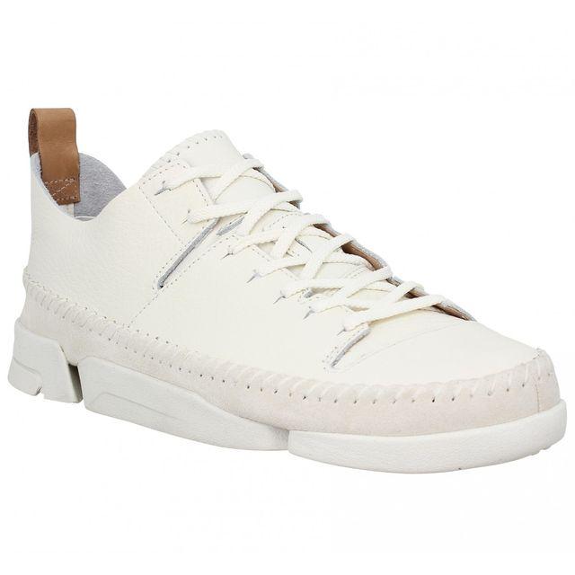b9d1c90b7775 Clarks - Originals Trigenic Flex cuir Homme-42-Blanc - pas cher Achat   Vente  Baskets homme - RueDuCommerce