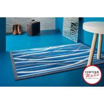 Contzen Design - Paillasson Whispering Grass absorbant bleu Lars Contzen