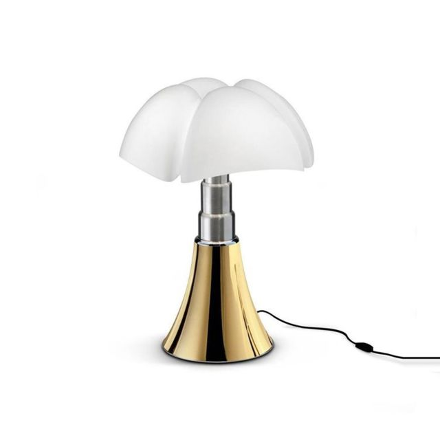 Martinelli Luce Mini Pipistrello-lampe Led H35cm Doré - designé par Gae Aulenti