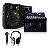 ELECTRONIC STAR - Set DJ PA Rack Star Jupiter Shock 800W coffre rack chaîne