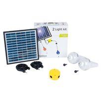 Sundaya - Kit éclairage solaire 2 lampes Ulitium 200