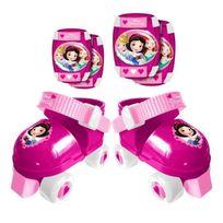 Stamp - Disney Princesses Set Patins a Roulettes avec Coudieres/Genouilleres