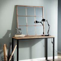 Miroir 90x90 achat miroir 90x90 pas cher rue du commerce for Miroir 9 carreaux