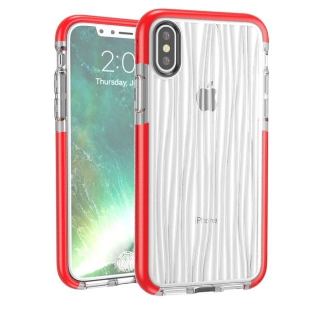 Wewoo - Coque rouge pour iPhone X D30 + Tpu Moiré Téléphone Motif Étui de  Protection 42963c7fa3a