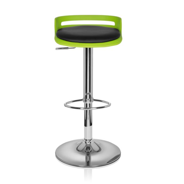 Hjh Office Tabouret De Bar Light Simili Cuir Noir Vert Vert