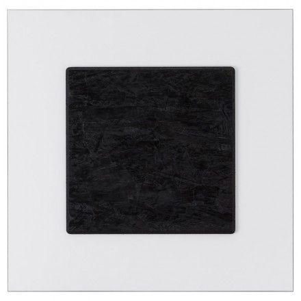 TECHNEB Plateau de table LILAS carré en polymère 68cmX68cmX3cm, blanc