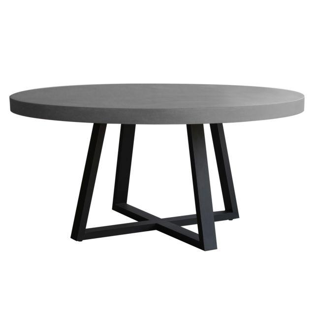 Rendez Vous Deco Table Ronde Mahuru 140 Cm Pas Cher Achat
