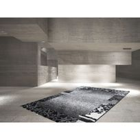 Deladeco - Tapis rectangle contemporain pour salon anthracite Bohème