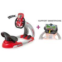 Smoby - Station de conduite pour enfant V8 Driver + support smartphone