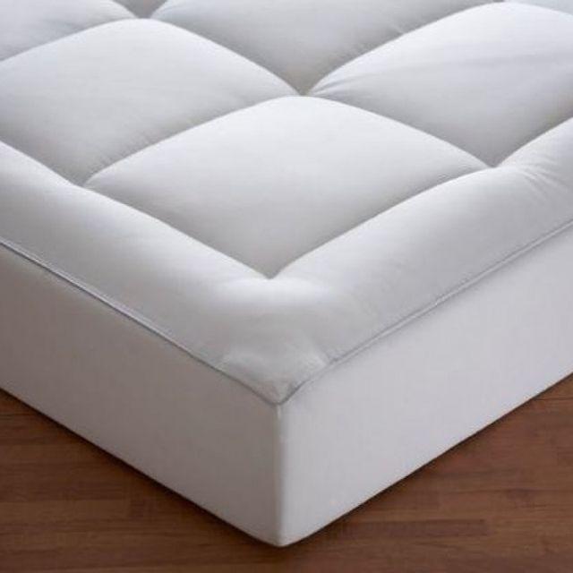 100pourcentcoton surmatelas 140x190 cm sensation duvet 500 g m2 pas cher achat vente draps. Black Bedroom Furniture Sets. Home Design Ideas