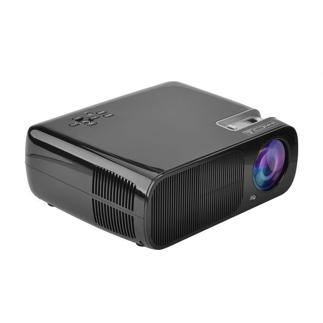 Auto-hightech Projecteur 4.4 Lcd Android wifi bluetooth - 5,0 pouces Lcd Quad Core, 1080P de soutien, 2600 Lumens