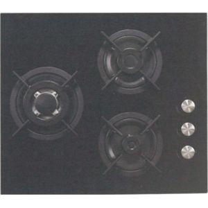Sogelux plaque gaz 3 feux pc515nf 60cm verre noir achat - Plaque cuisson gaz 3 feux ...