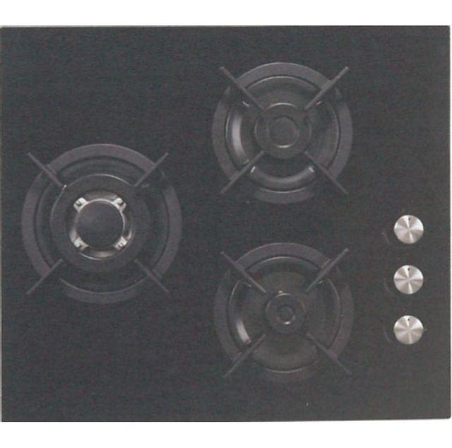 sogelux plaque gaz 3 feux pc515nf 60cm verre noir achat. Black Bedroom Furniture Sets. Home Design Ideas