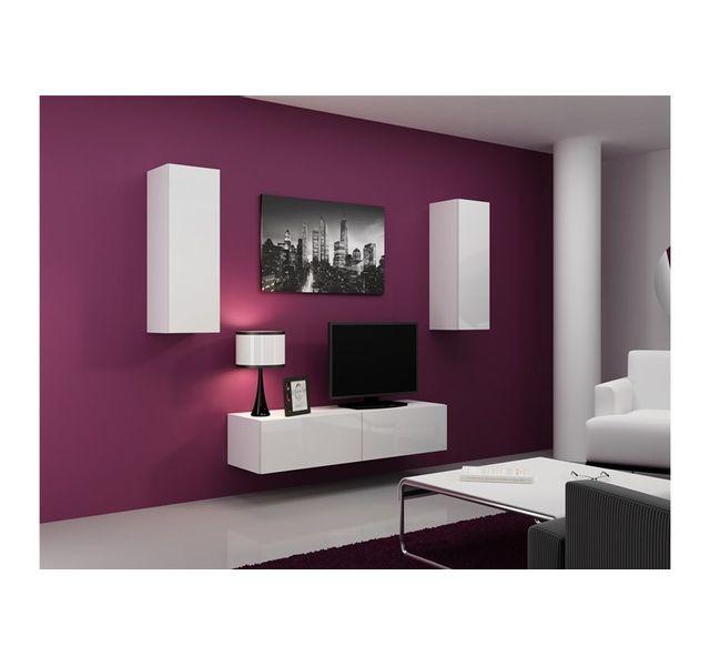 Meuble Tv Design Suspendu Mano Blanc