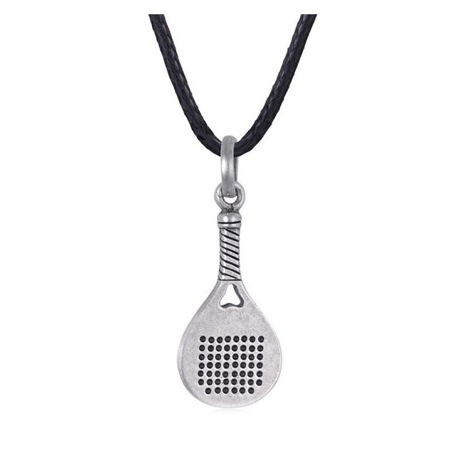 066c62d0151 Pendentif raquette en argent unisexe 45-70 cm Collier bijou homme - pas cher  Achat   Vente Pendentifs et médailles - RueDuCommerce