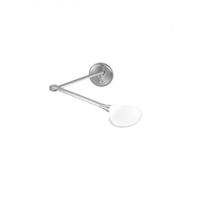 Leds C4 Applique Suite, acier et verre mat, blanc mat