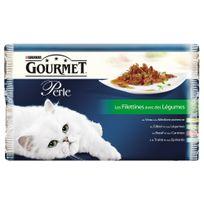 Gourmet - Sachets Perle Les Filettines avec Légumes pour Chat - 4x85g