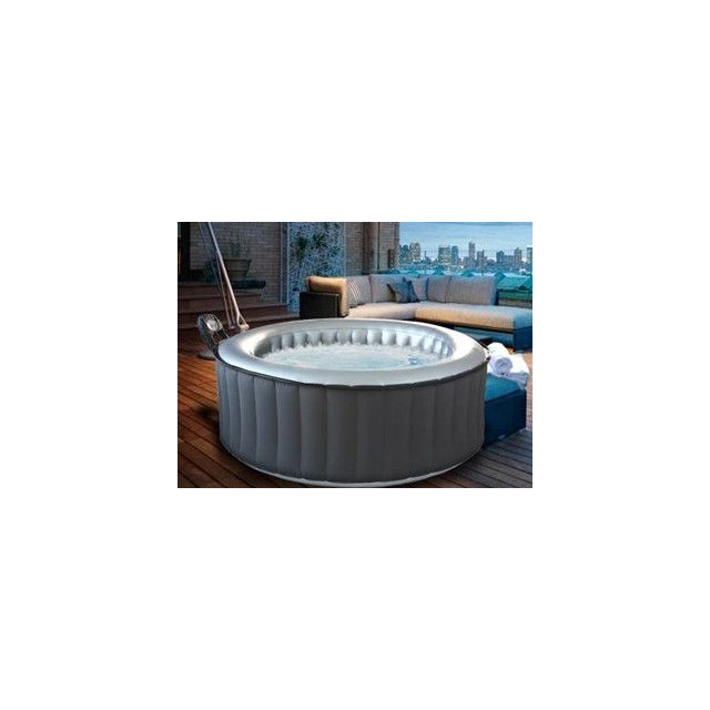 Mspa - VigiPiscine - Spa gonflable Silver Cloud Lite rond 4 places coloris  gris ac3504129d6c