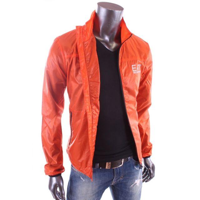 74c1c285d0e Armani - Ea7 - Ventus 7 - Veste coupe vent orange homme 271624 5P260 ...