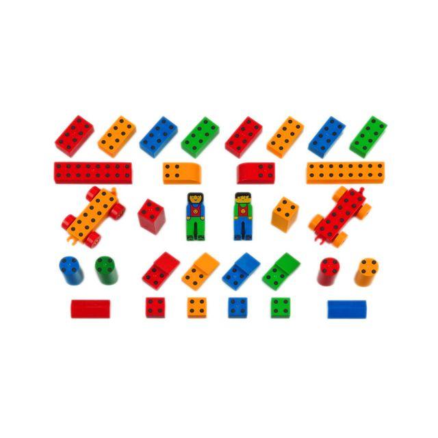 Klein Jeu de construction : Set école Manetico : 38 pièces