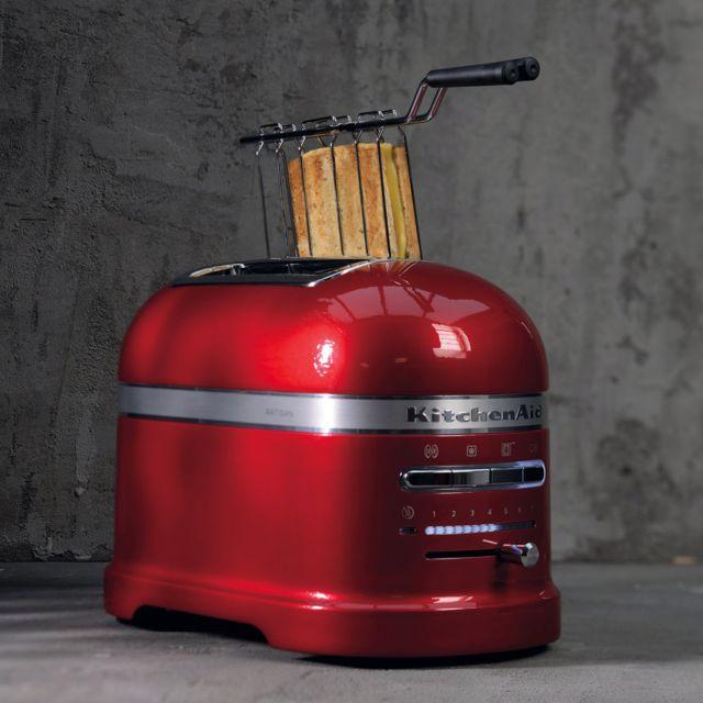 Kitchenaid Grille pain avec 2 fentes 1250W rouge empire argent