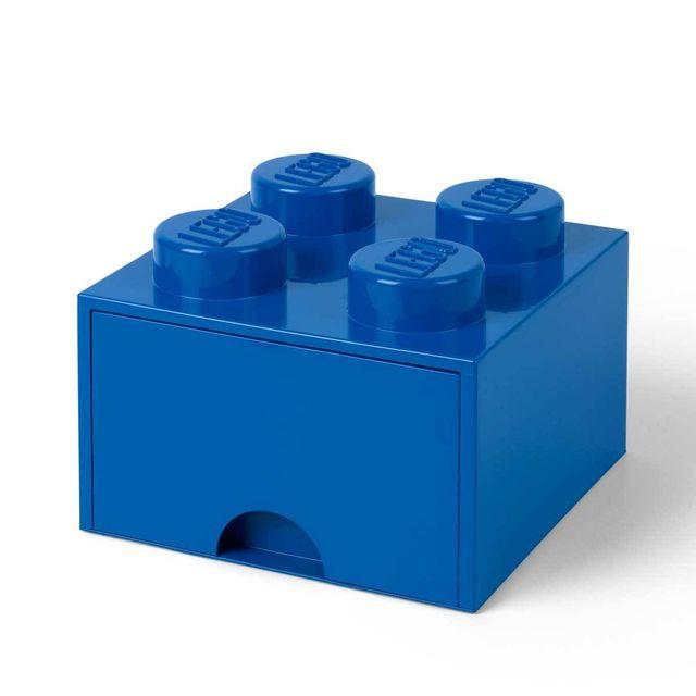 super populaire 38071 3db59 Brique de Rangement Empilable avec Tiroir 4 plots ® Bleu