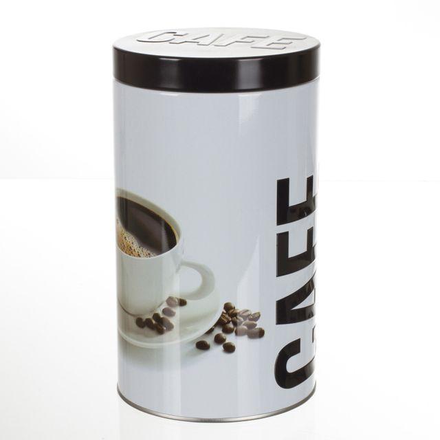 B&W Boîte à café Ronde Relief - Métal