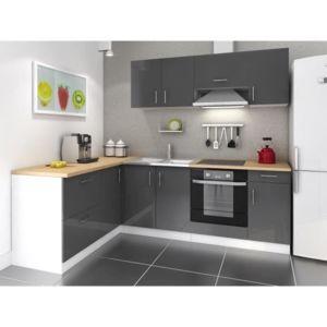 cuisine complete 280 cm laqu gris cosy pas cher achat vente rueducommerce. Black Bedroom Furniture Sets. Home Design Ideas