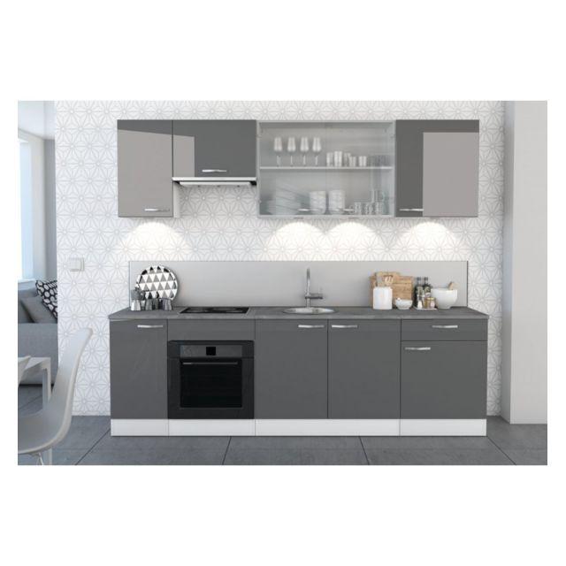Demeyere le depot bailleul meuble haut cuisine epice 2 portes vitr es pas cher achat - Meuble cuisine haut porte vitree ...