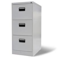 Vidaxl - Armoire de bureau en métal à 3 tiroirs Gris