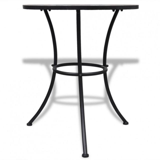 MAJA+ - Table mosaïque terre cuite / blanc - pas cher Achat / Vente ...