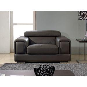 La Maison Du CanapÉ Fauteuil Cuir Lima Cuir Prestige Marron - Canapé fauteuil cuir