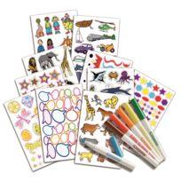 VIVID - Crayola - Kit Coloriage et autocollants - 545000