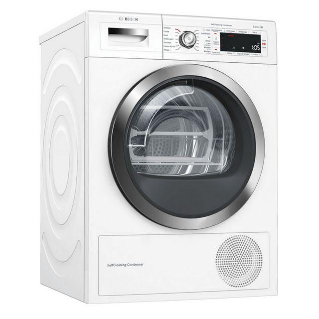 bosch s che linge pompe chaleur avec condenseur 60cm 9kg a blanc wtwh7591ff achat s che. Black Bedroom Furniture Sets. Home Design Ideas