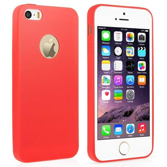 coque iphone 5 mat rouge