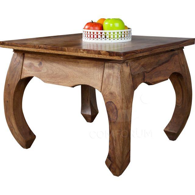 Comforium Table d'appoint baroque en bois massif de palissandre