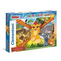 Clementoni - Puzzle 104 pièces Maxi : La Garde du Roi Lion