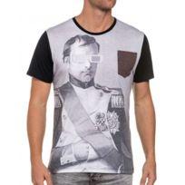 French Kick - T-shirt noir poche poitrine imprimé
