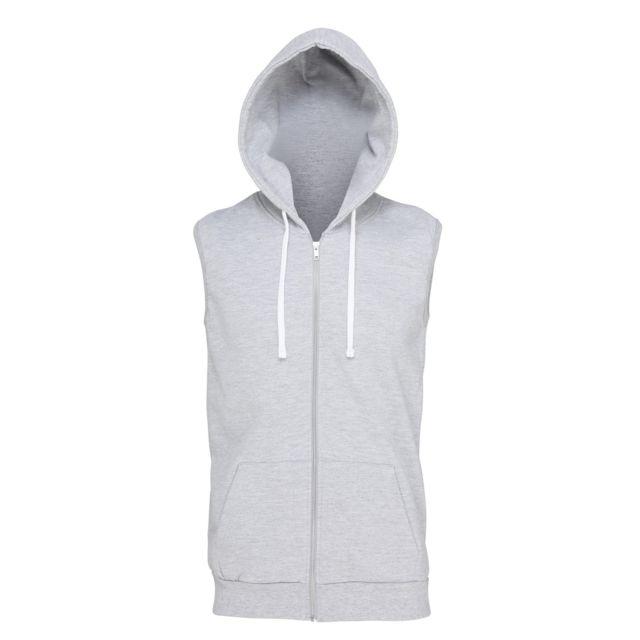 64ec2b2116a48 Awdis - Just Hoods - Veste sans manches à capuche et fermeture ...